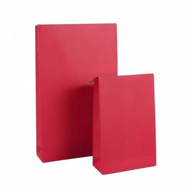 Geschenktüte rot, Kraftpapier gestrichen