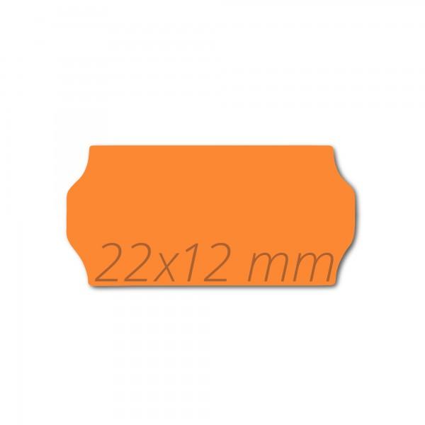 Preisetiketten 22x12, leucht-orange Preisauszeichner Etikettenrollen