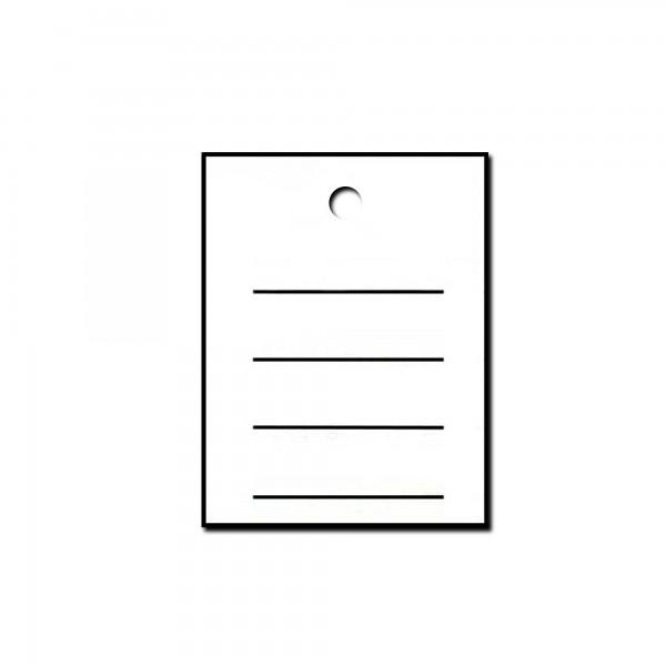 Kartonetiketten 35x45 mm, einzeln, Druck: Liniert