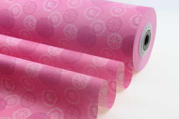 Seidenpapier Rolle für Blumen Blumenrad pink-SP