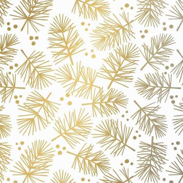 Geschenkpapierrolle Weihnachten Tanne gold