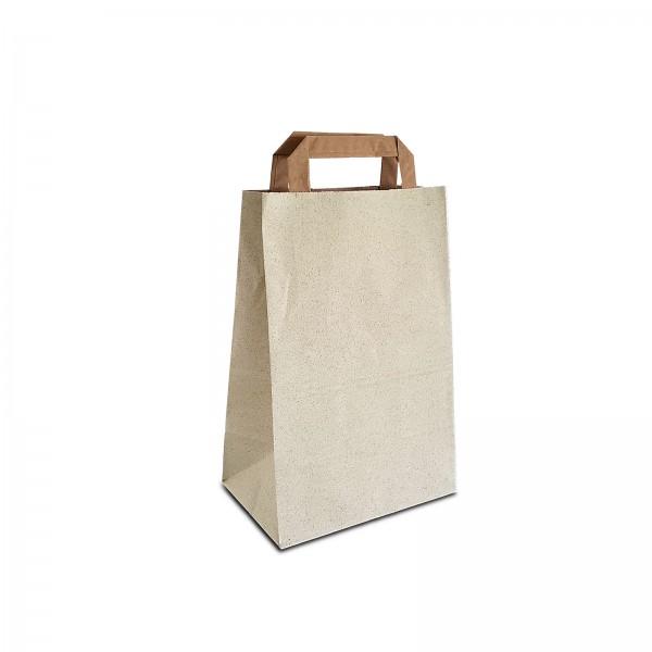 Graspapier Tüten 18x12x28 cm   100% recycelbare Papiertaschen aus Graspapier