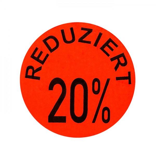 runde Etiketten 32mm, Druck: Reduziert 20%, permanent