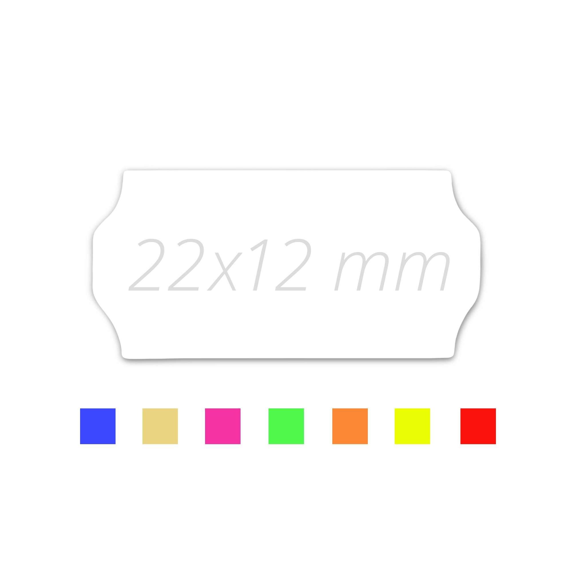 Preisauszeichner Etiketten 22 x 12 leucht-rot 15.000 Preisetiketten 22x12 HUTNER Aufdruck: Sonderpreis 10 Rollen a 1.500 St/ück permanent