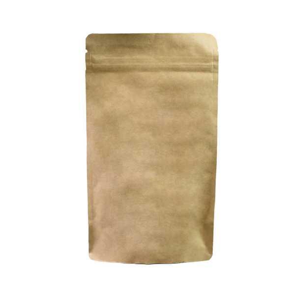 Standbodenbeutel - Doypack braun ohne Alu mit Druckverschluß in versch. Größen
