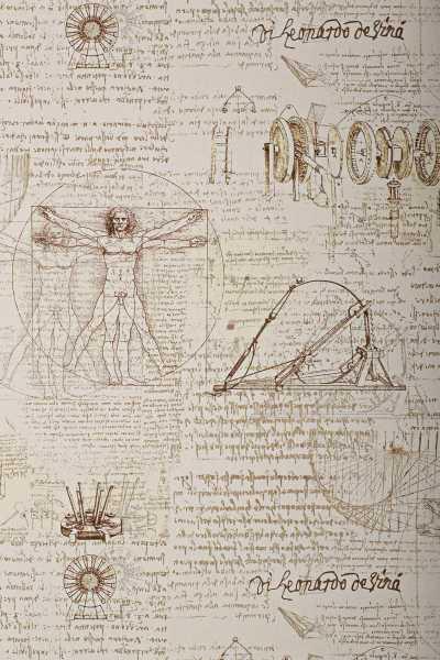 Geschenkpapierrolle Design Leonardo natur