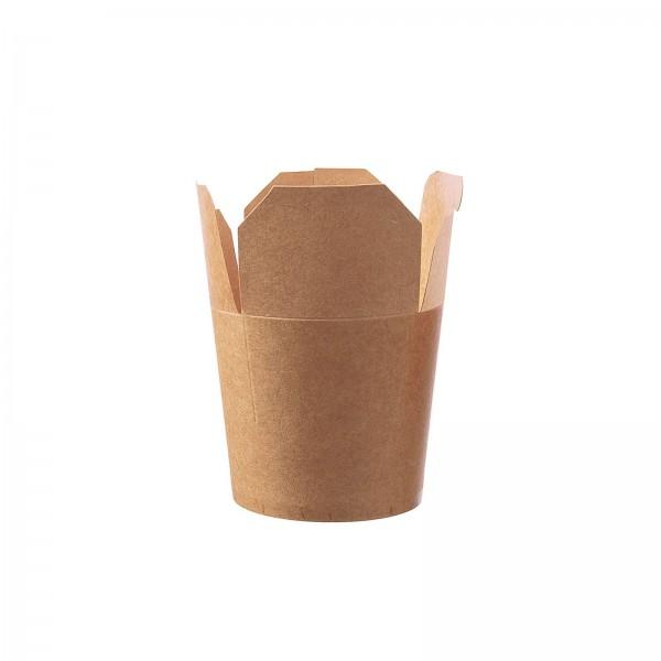 Food-Container Chinabox aus Pappe braun in zwei Größen