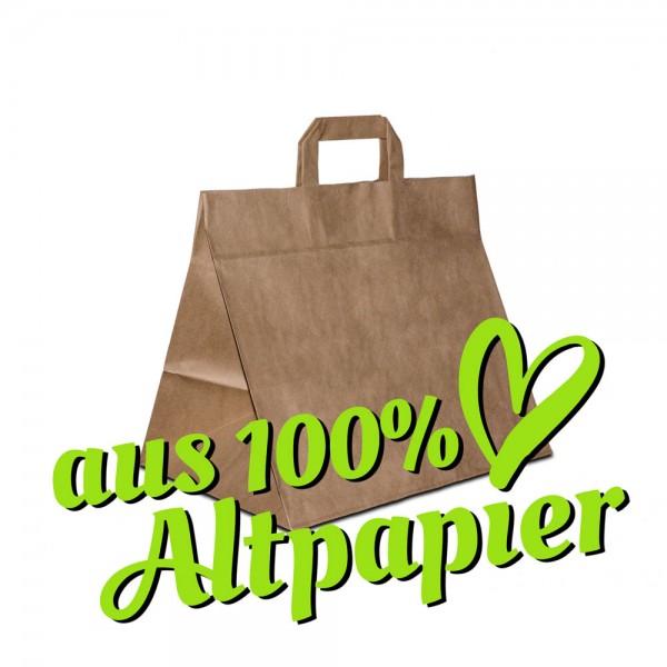 Kuchentaschen, braune Papiertüten aus Altpapier, Recycling Tragetaschen