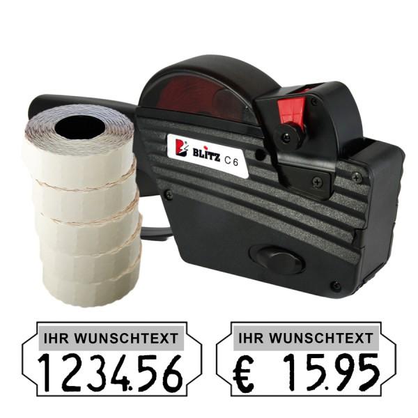 Blitz C6 Preisauszeichner, 6-Stellen, (Set 7.500)