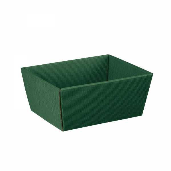 Präsentkorb grün offene Welle, 3 Größen
