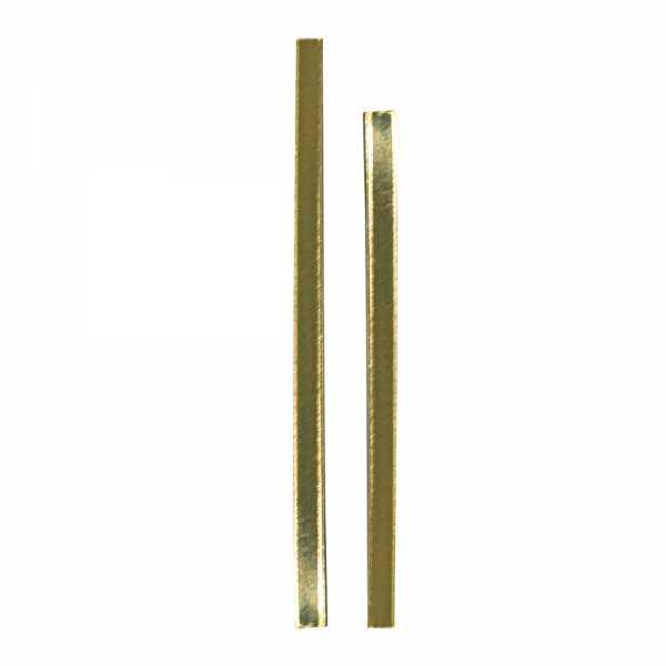 Clipbandstreifen zum Verschließen von Beuteln, gold in zwei Größen