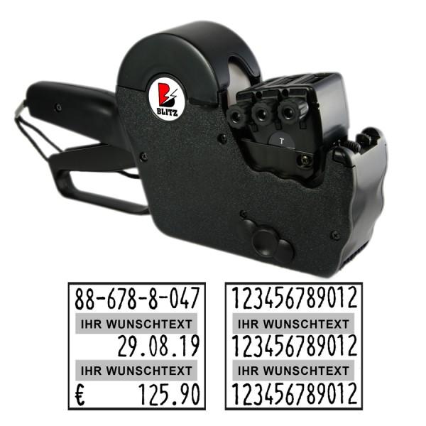 Blitz T222 Preisauszeichner, 3-zeilig, 12+12+12 Stellen
