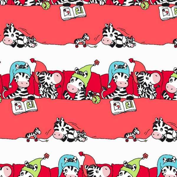 Geschenkpapierrolle Kinder Baby Zebra, rot
