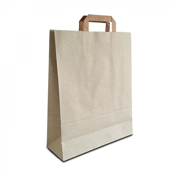 Graspapier Tüten 32x12x40 cm | 100% recycelbare Papiertaschen aus Graspapier