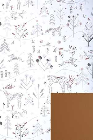Geschenkpapierrolle Weihnachten Wintertraum beidseitig