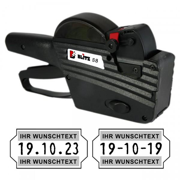 Blitz S8-PRO mittig MHD Auszeichner Datumsauszeichner, 1-Zeile, 8 Stellen