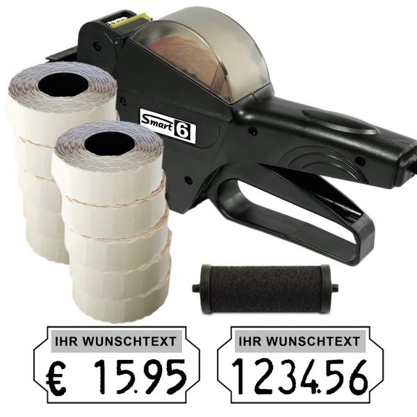 Smart 6 Preisauszeichner, 6-Stellen, (Set 15.000 + 1 FR)