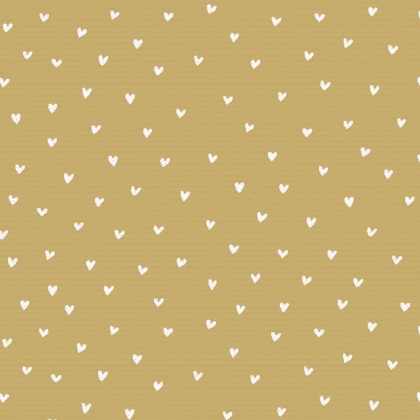 Geschenkpapierrolle Natronpapier mit weißen Herzen