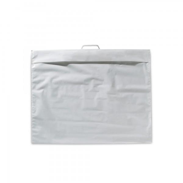 Polytextiltragetasche mit Klappe 63x50 80my weiss