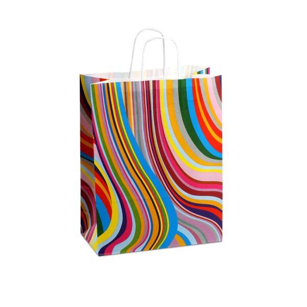 Papiertüten mit Motiv, Design Seventies, in 2 Größen