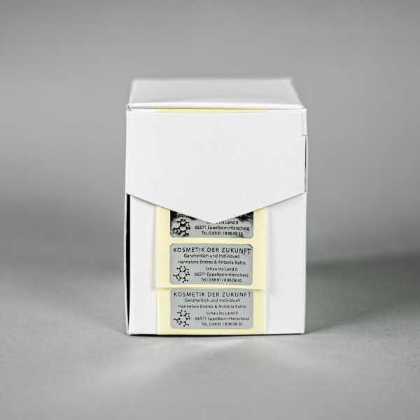 Prägeetiketten 50x20 mm rechteckig mit abgerundeten Ecken | eleganter Heißfolienprägedruck