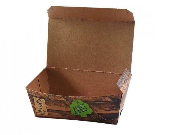 Snack-Box ENJOY GREEN, nachhaltig und kompostierbar in versch. Größen