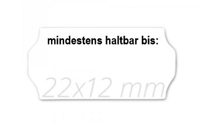 Preisetiketten 22x12 weiß, MHD schwarz