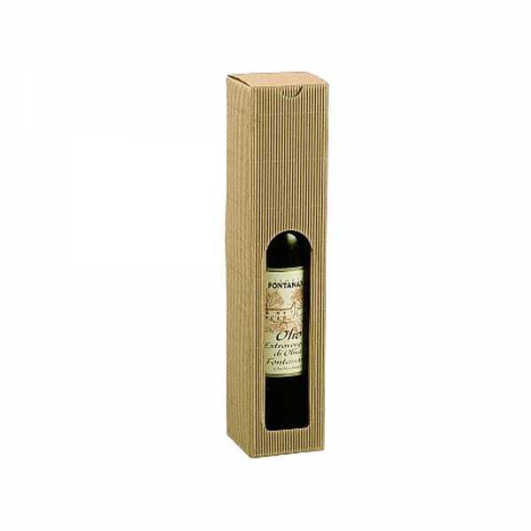 Flaschenkarton für Öl - Essig, natur offene Welle, 5 Größen