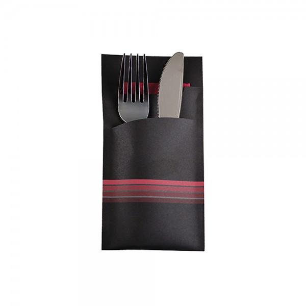 Bestecktasche aus Papier inkl. Serviette in verschiedenen Designs