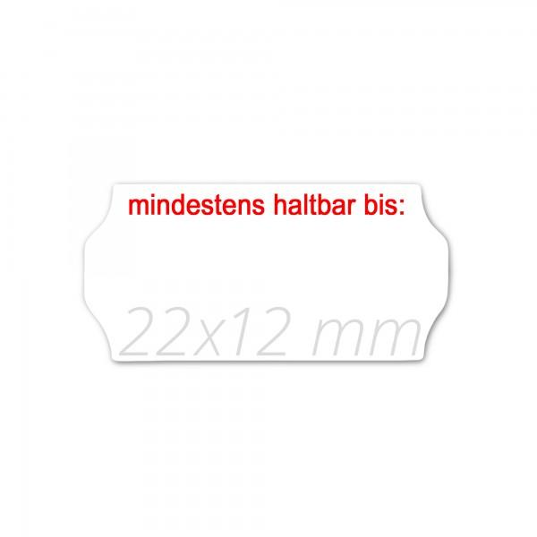 Preisetiketten 22x12, Preisauszeichner Etikettenrollen