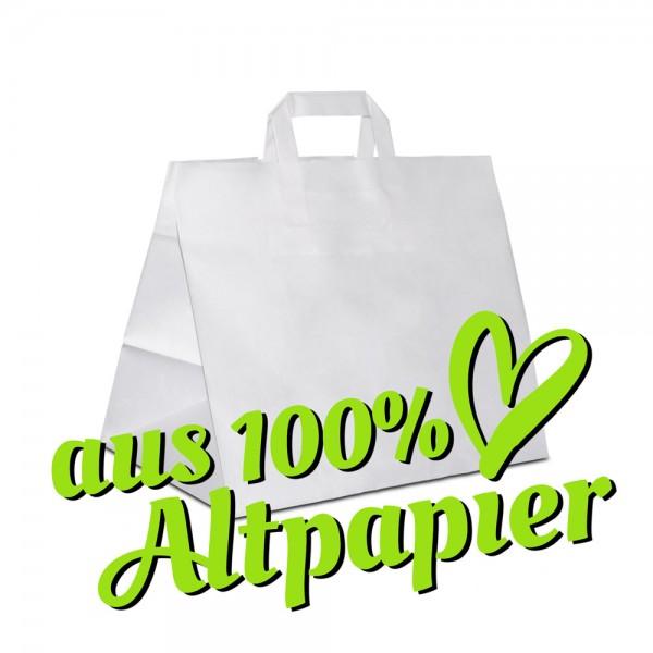 32+22x27 Kuchentaschen, weisse Papiertüten aus Altpapier, Recycling Tragetaschen