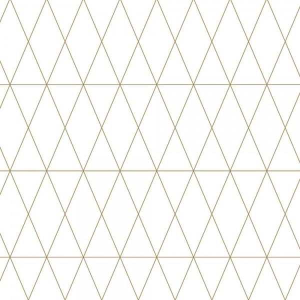 Geschenkpapierrolle weiß mit goldenen Rauten