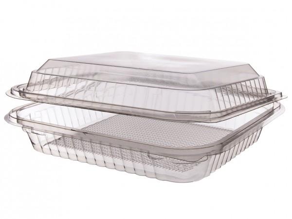 Klappbox aus PET rechteckig in zwei Varianten Klarsicht-Box