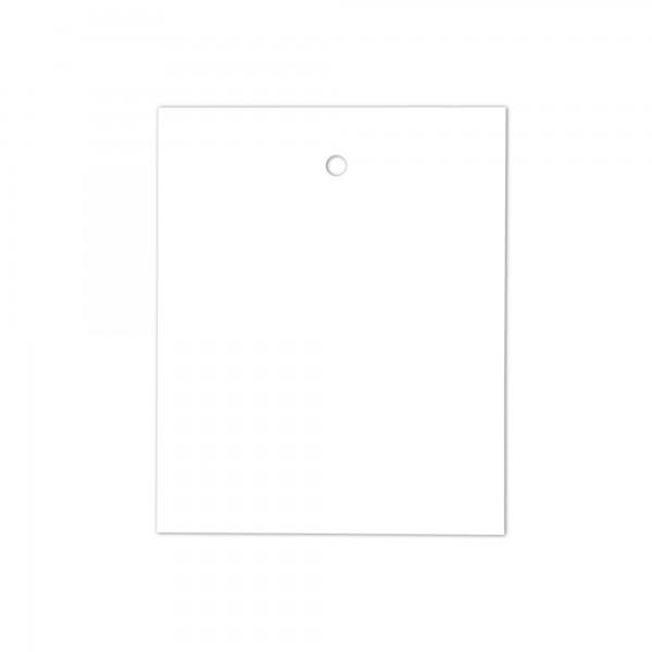 Kartonetiketten 35x45 mm, einzeln geschnitten, weiss