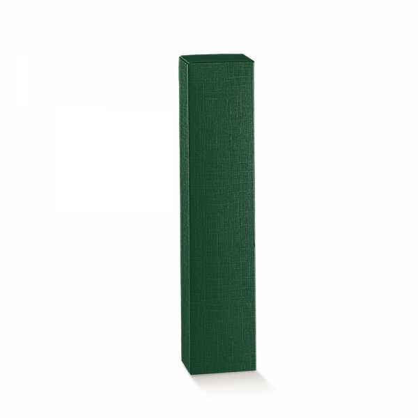 Flaschenkarton für Öl - Essig, grün Leinenstruktur, 6 Größen