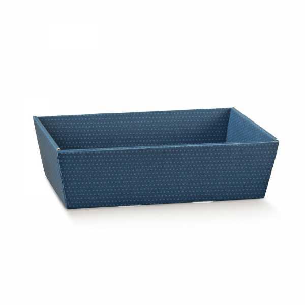Präsentkorb dunkelblau mit Punkten, 2 Größen