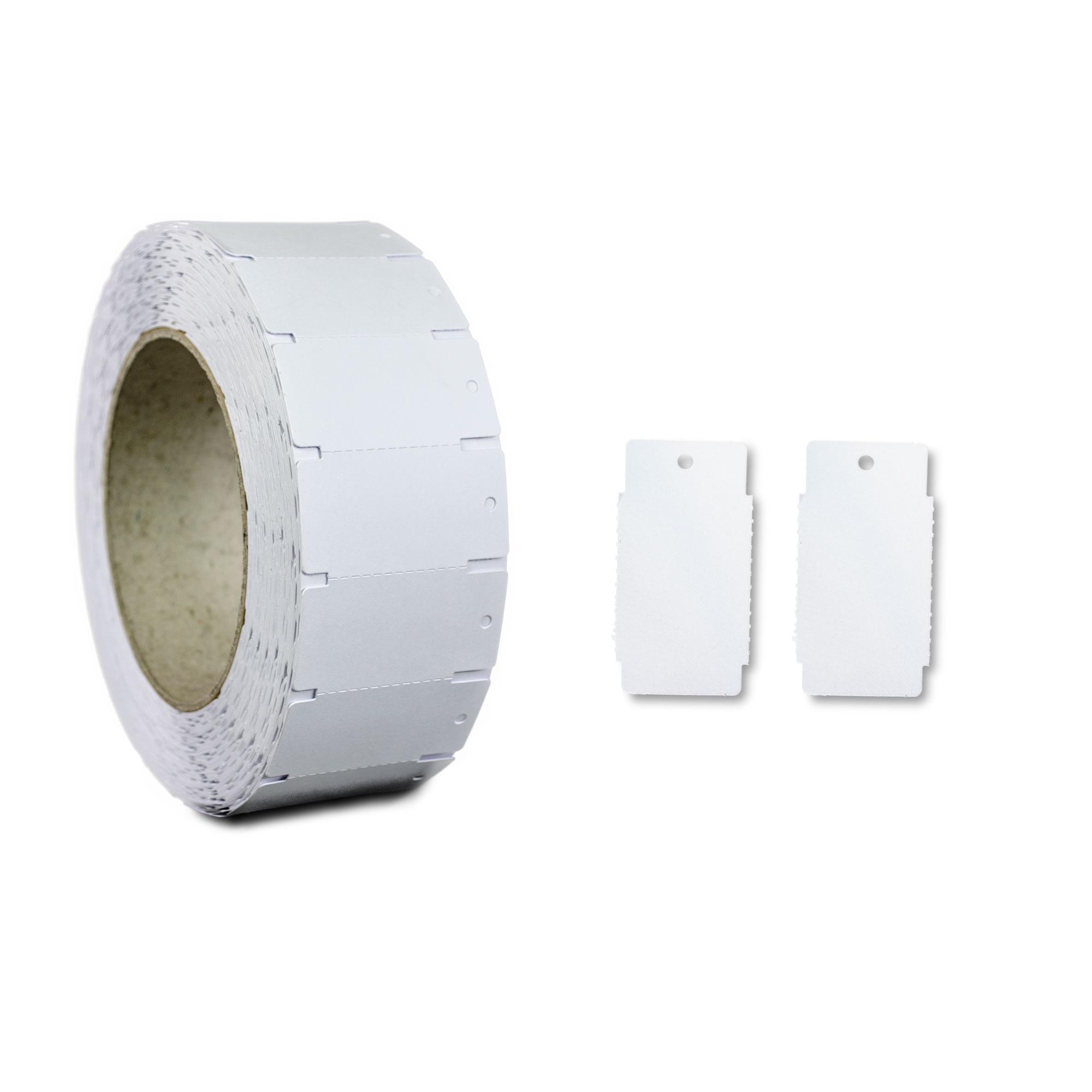 1.000 Kartonetiketten 45x55 mm wei/ß unbedruckt HUTNER H/ängeetiketten Preisschilder einzeln geschnitten