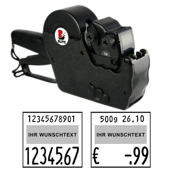 Blitz TM17-Maxi Preisauszeichner, 2-Zeilen, 11+7 Stellen Großdruck
