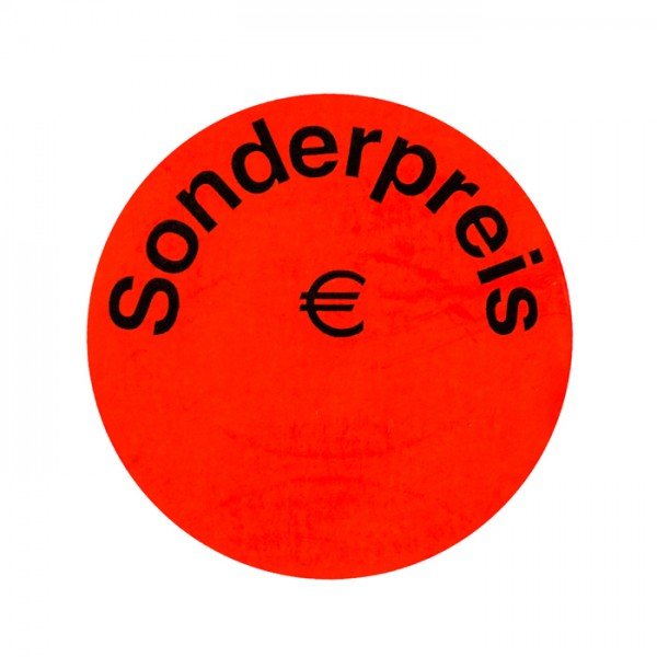 runde Etiketten 50mm, Sonderpreis Euro, permanent