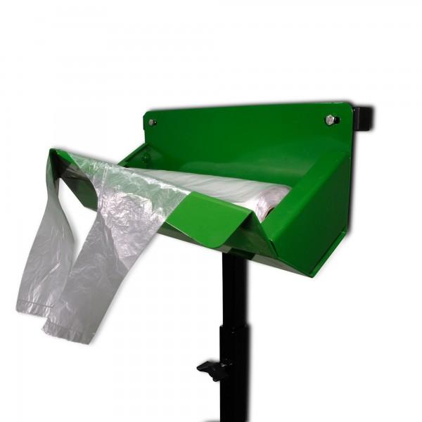Knotenbeutelständer - mit Dispenser im Set - Metall