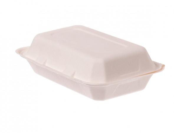 Lunchbox aus Bagasse in zwei Größen
