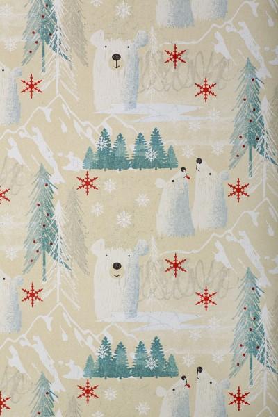 Geschenkpapierrolle Weihnachten Eisbär