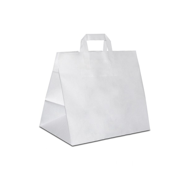 Konditortaschen, extra breiter Boden, Weiss, in 2 Größen
