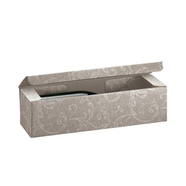 Weinkarton Ornament silber grau, 3 Größen