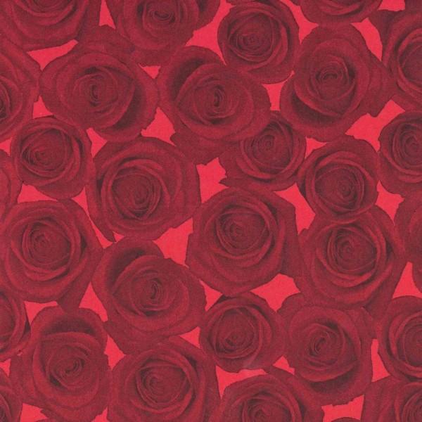 Seidenpapier Rolle für Blumen Rosen schwarz rot