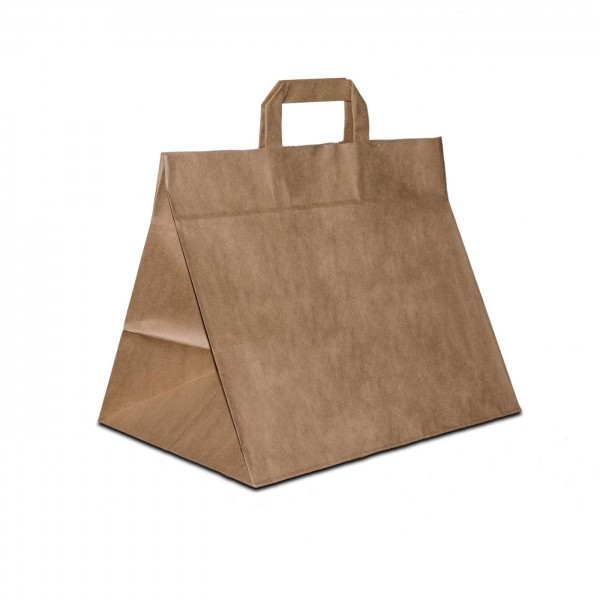 Konditortaschen, extra breiter Boden, Braun, in 2 Größen