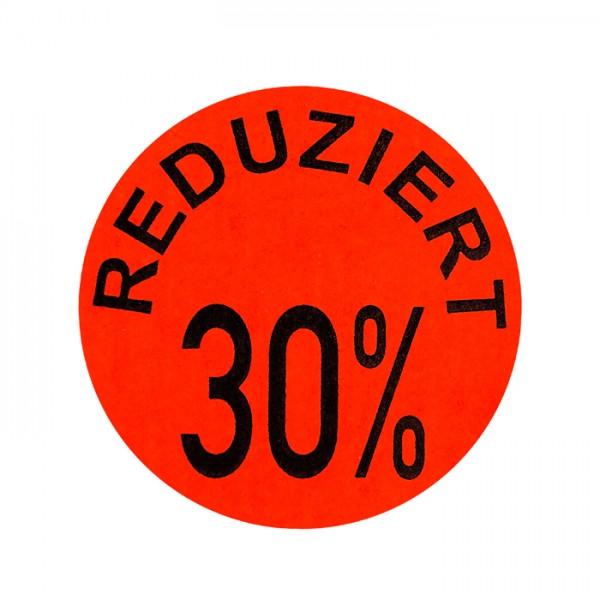 runde Etiketten 32mm, Druck: Reduziert 30%, permanent