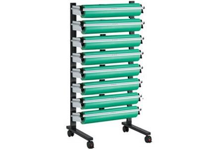 MULTI-ZAC Ständer, fahrbar, komplett 9 Papier / Folienabroller