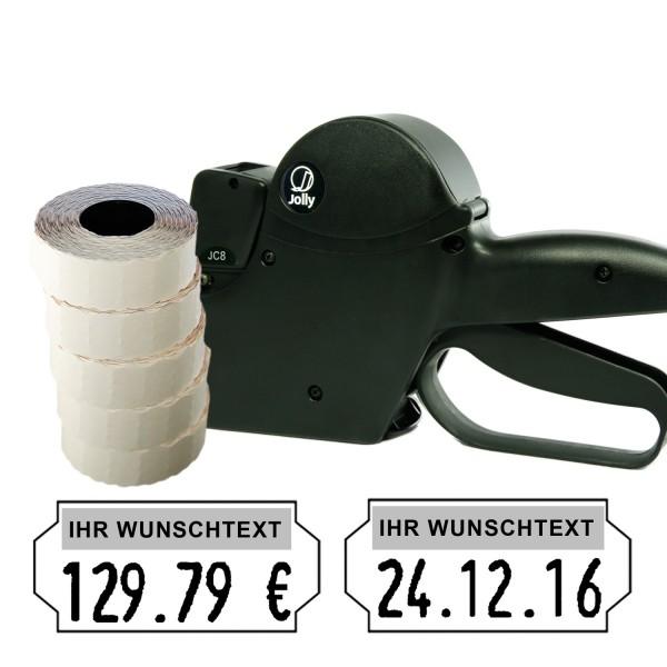 Jolly JC8 Preisauszeichner, 8-Stellen, (Set 7.500)