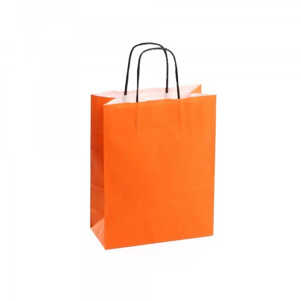 Papiertüten Orange, mit Kordelhenkel, in 3 Größen